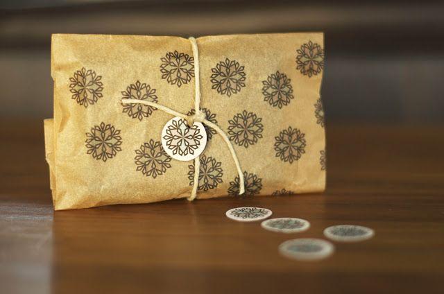Christmas brown bag gift wrap
