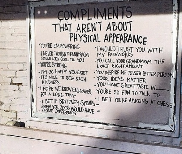 compliments that aren't about physical appearance