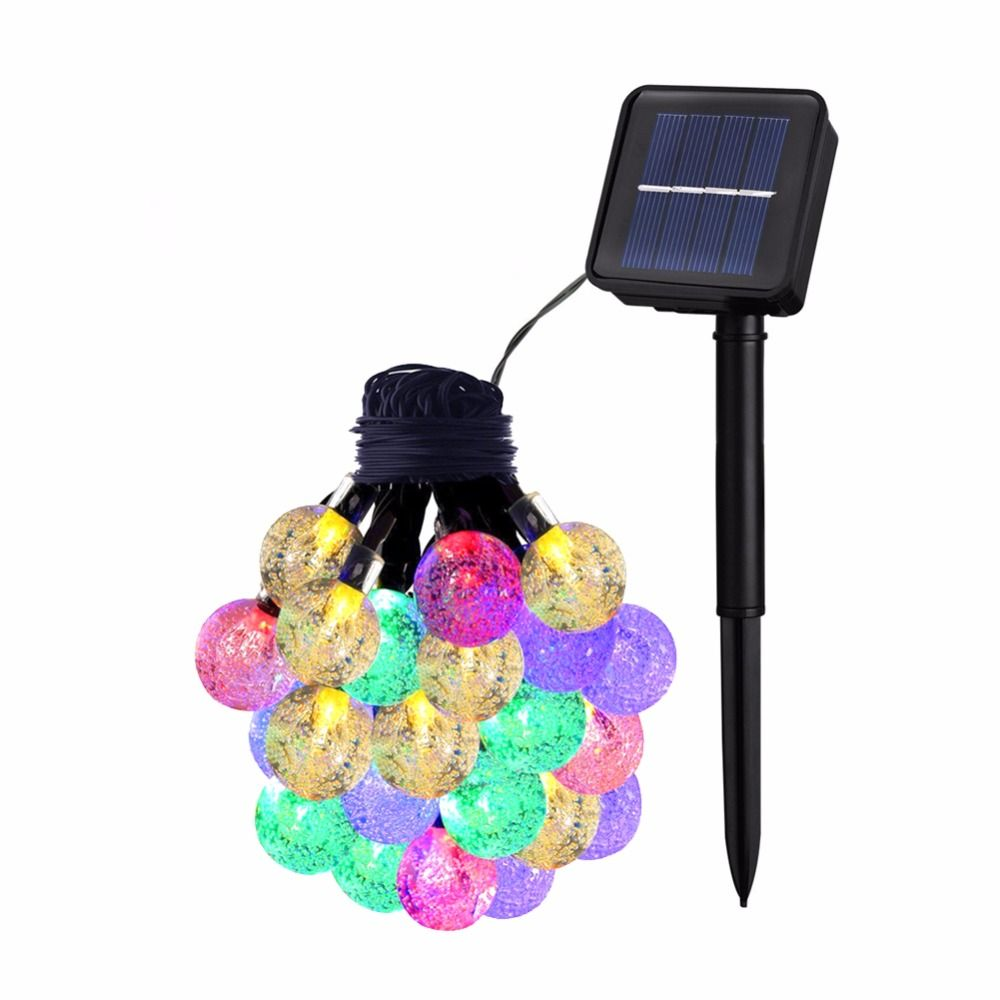 LumiParty Crystal Globe Ball Solar Lamp Power 30 LED 6M LED String