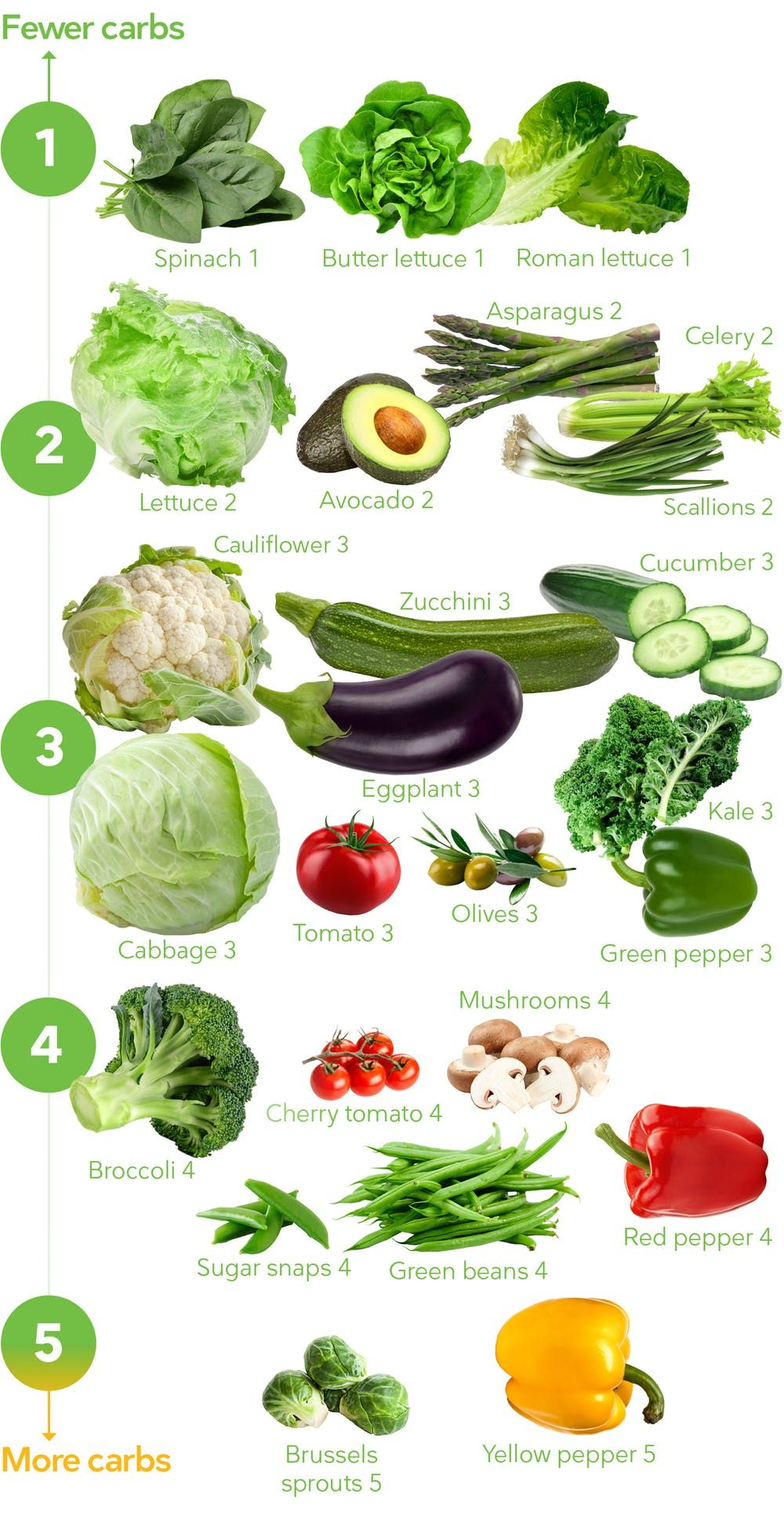 Keto Vegetables The Visual Guide To The Best And Worst Diet Doctor Leaf Vegetable List Of Vegetables Vegetable Diet