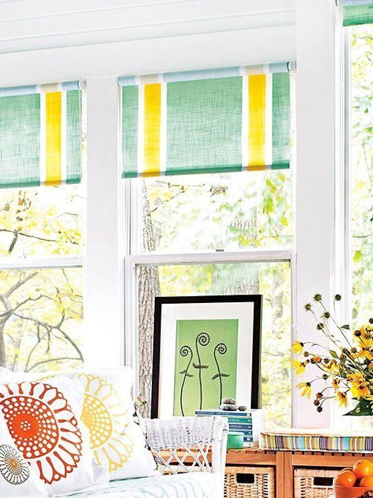 how to make plain blinds look better