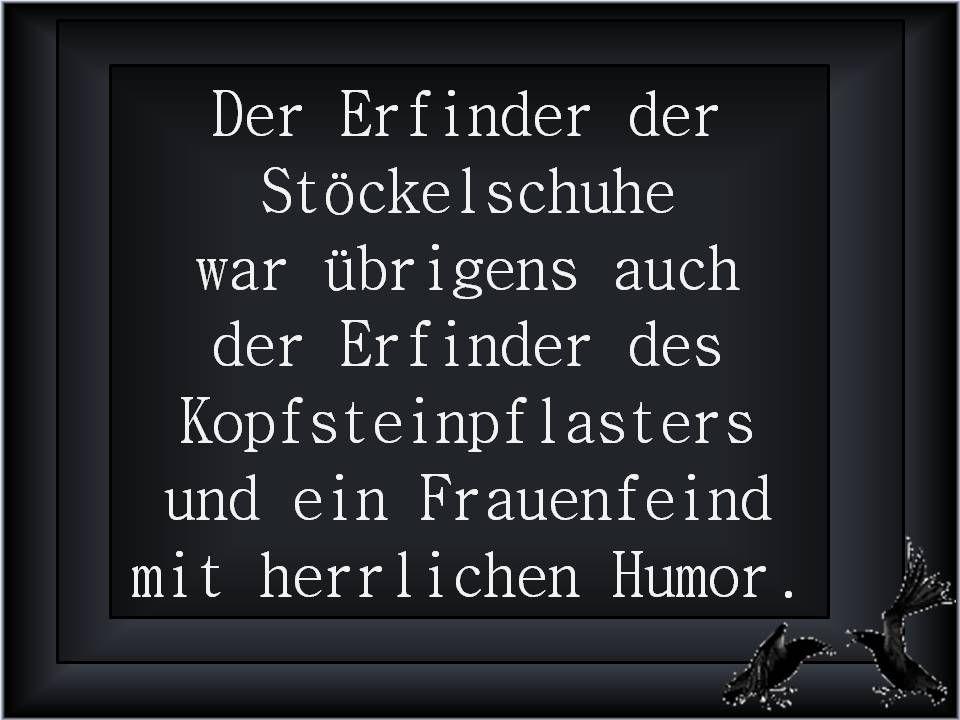 Stöckelschuhe und Kopfsteinpflaster funny german quotes - lustige sprüche küche