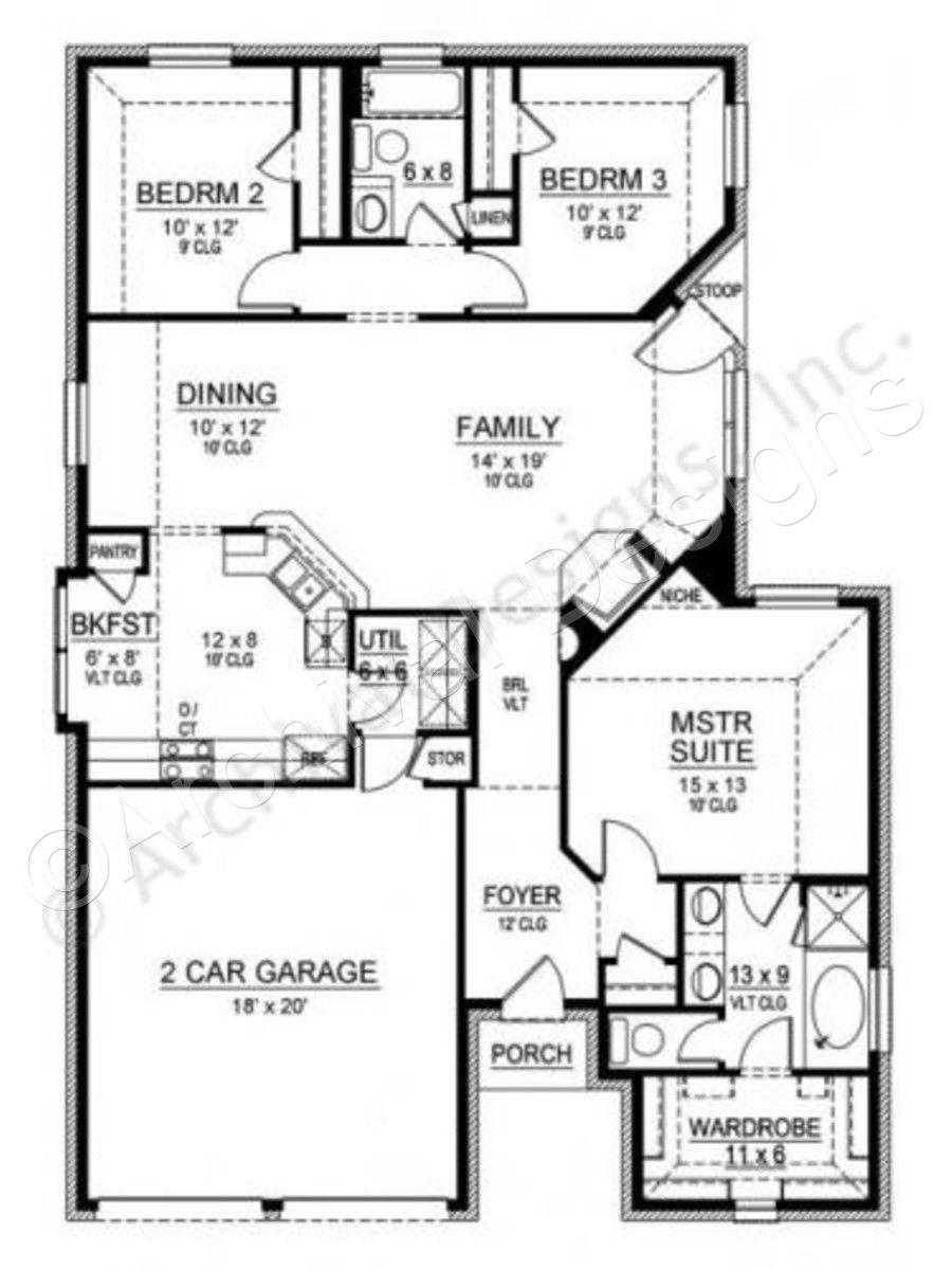 Cedar Crest House Plan Cedar Crest House Plan First Floor