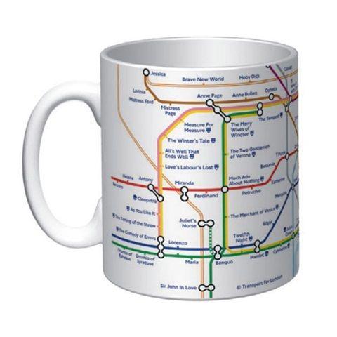 Shakespeare`s Underground Map Mug