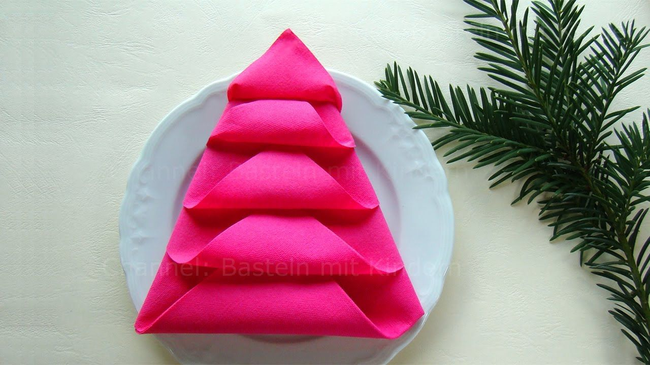 napkin folding christmas tree how to fold napkins for. Black Bedroom Furniture Sets. Home Design Ideas