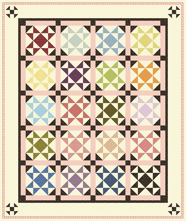 Free Pattern Now Available Hidden Shoo Fly Designed By Rose Ann Cook Uses Her Collection Modern Antiq Quilt Block Pattern Quilt Making Quilt Patterns Free
