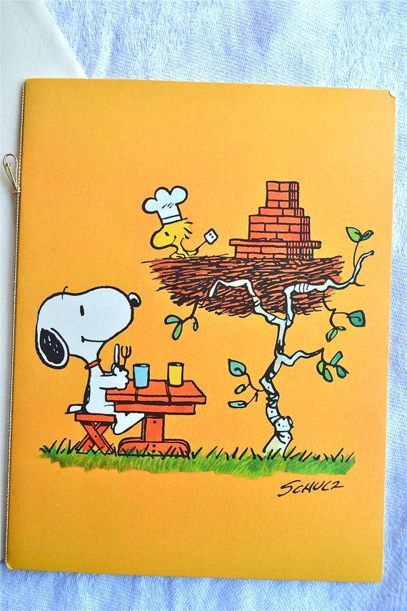 Vintage Snoopy Greeting Card Woodstock Bbq Dinner Nos Unused