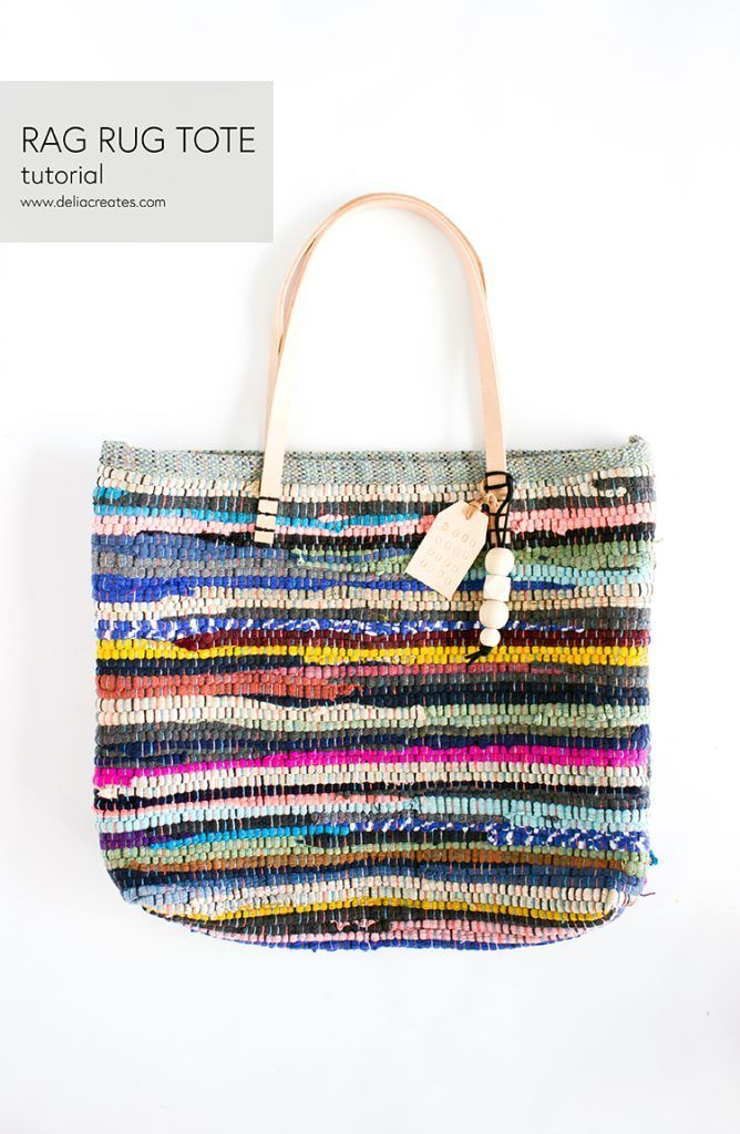 Rug Rag Leather Bag Tutorial Www Deliacreates Com Rug Rag Leather Bag Tutorial Www Deliacreates Leather Bag Tutorial Rug Bag Leather Bag Pattern