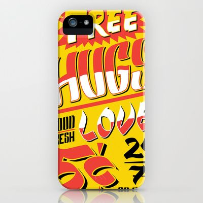 Free Hugs Cheap Love iPhone & iPod Case by Roberlan Borges - $35.00