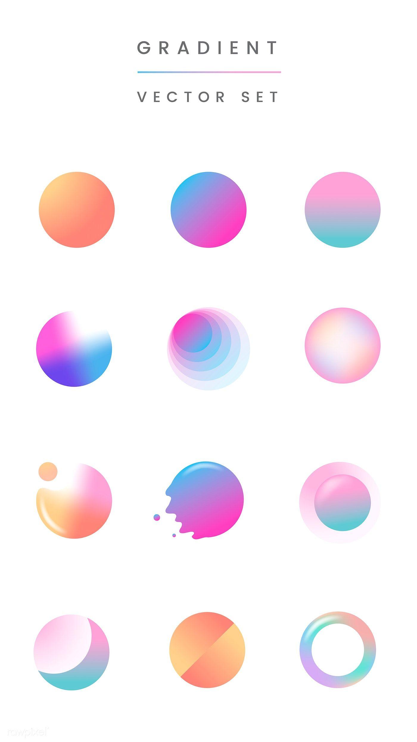 Design Trends Premium Psd Vector Downloads: Download Premium Illustration Of Colorful Gradient Badge Vector Set 894015