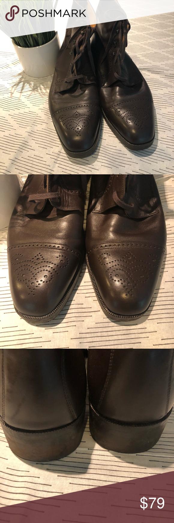 Menus bally brown dress boots size e in my posh picks