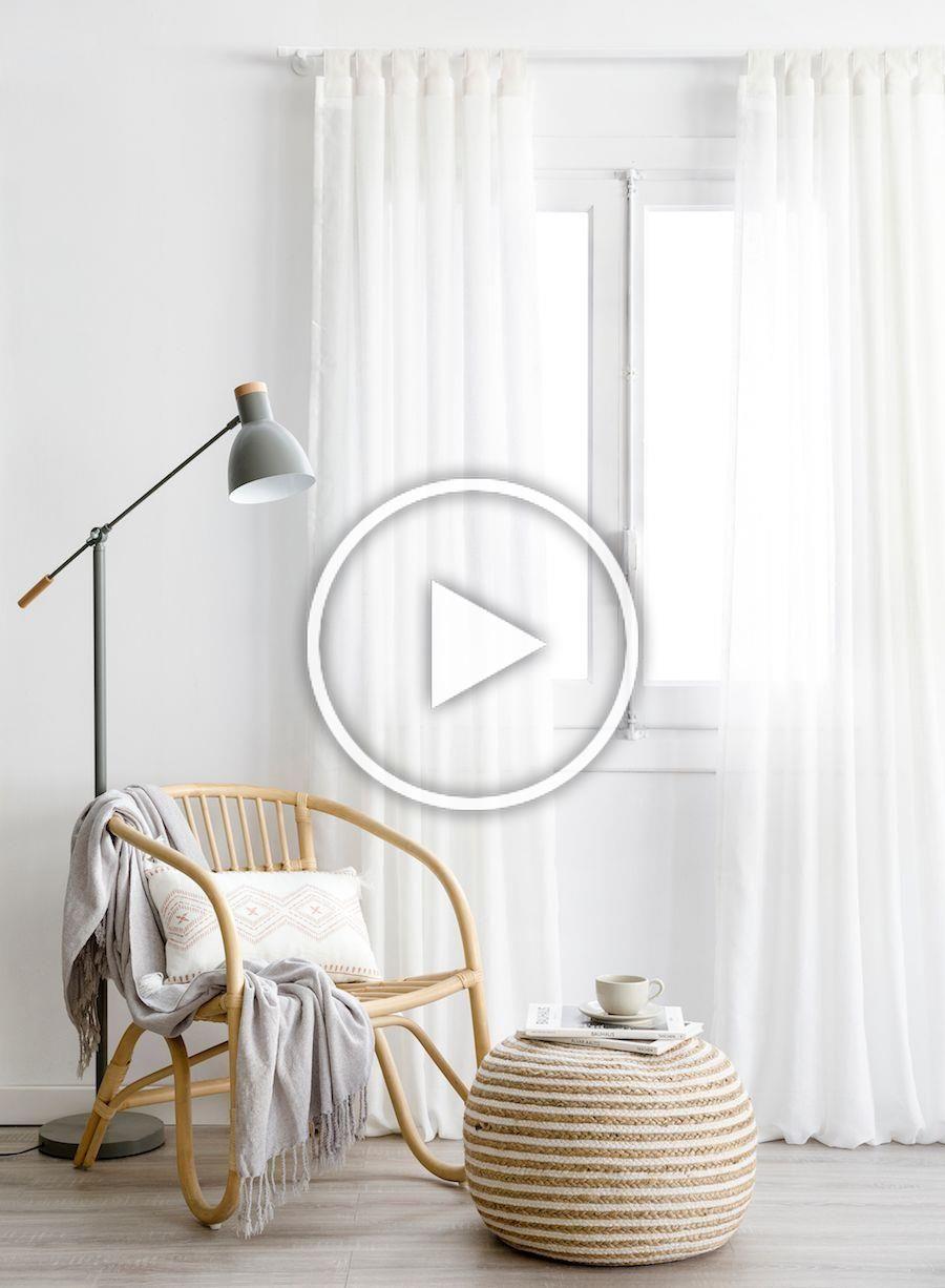 Aris cortina blanca   ¡Cortina lisa Aris, el complemento perfecto para decorar tu hogar! Las cortinas son un accesorio textil muy importante con el que podemos controlar el paso de la luz y la visibilidad. El modelo liso Aris en color blanco es un básico que podrás combinar con cualquier estilo y la estancia que prefieras.  #kenayhome #home #aris #cortina #blanca #lino #decoración #textil #básico #hogar #dormitorio #salón #comedor #ventana #luz #iluminación #sillón #rattan #lámpara #pie #gris