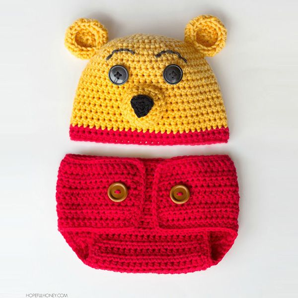 Download Winnie The Pooh Hat And Diaper Cover Crochet Pattern (FREE ...