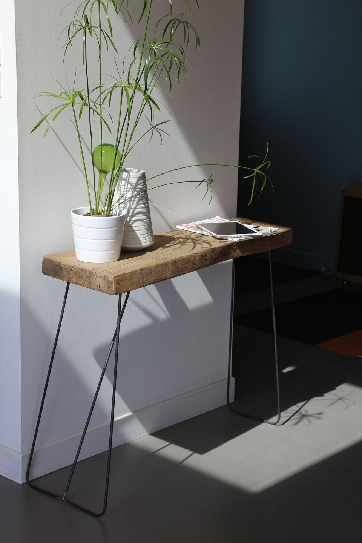 table d'appoint design bois et métal : meubles et rangements par