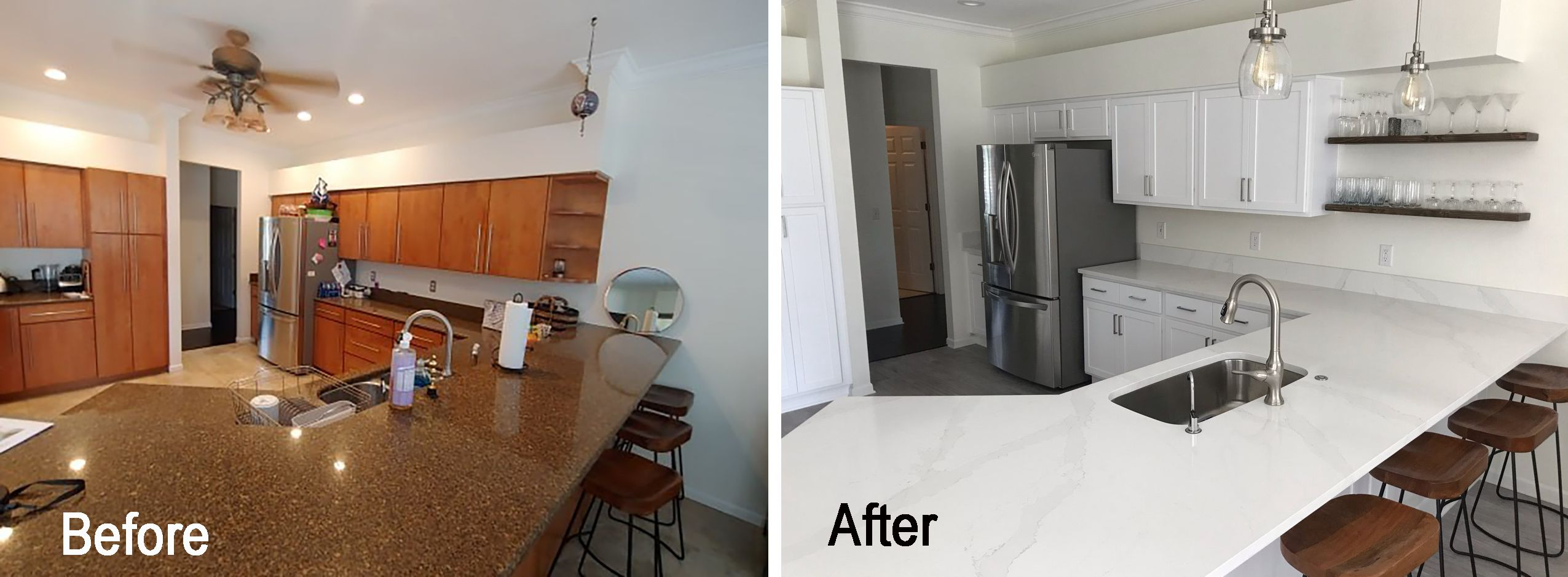 Contemporary Kitchen Remodel Done In Painted White Contemporary Kitchen Remodel Contemporary Kitchen Kitchen Remodel
