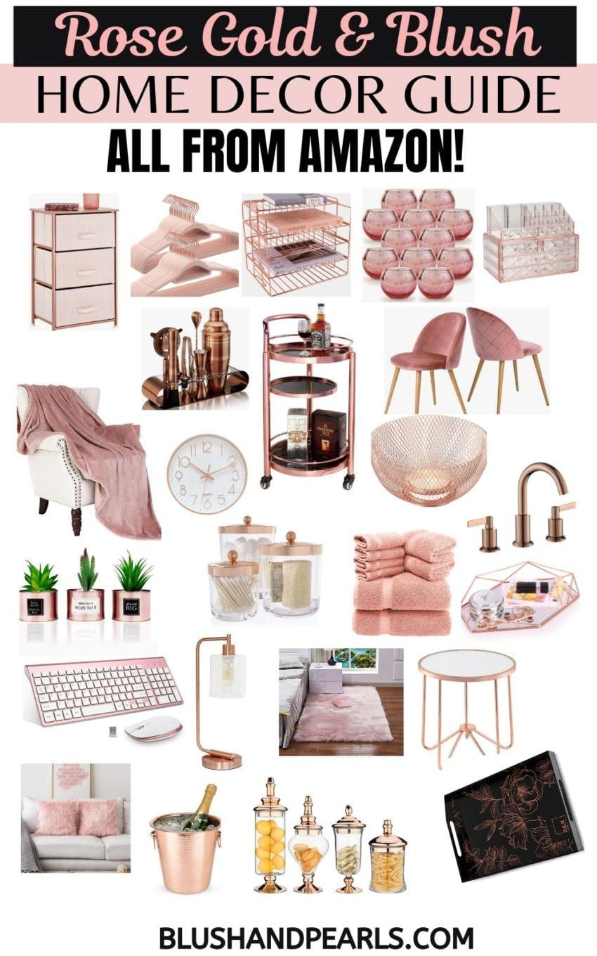 Rose Gold Home Decor On Amazon The Complete Guide Blush Pearls Gold Room Decor Rose Gold Room Decor Amazon Home Decor