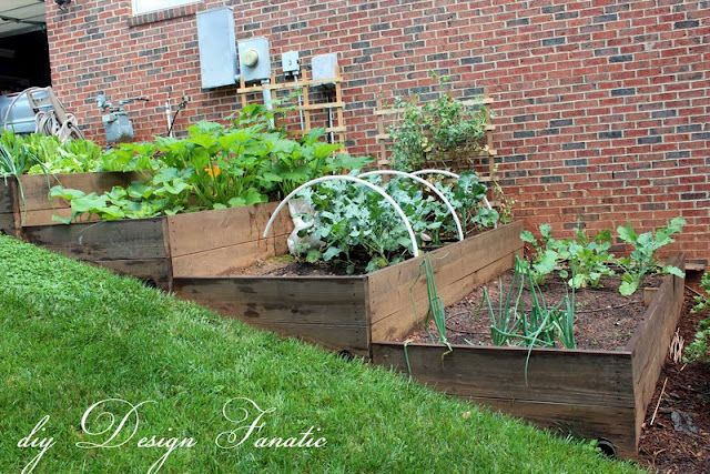 Small yard patio update garden love pinterest - Great Looking Raised Beds On A Slope Notice The Drainage