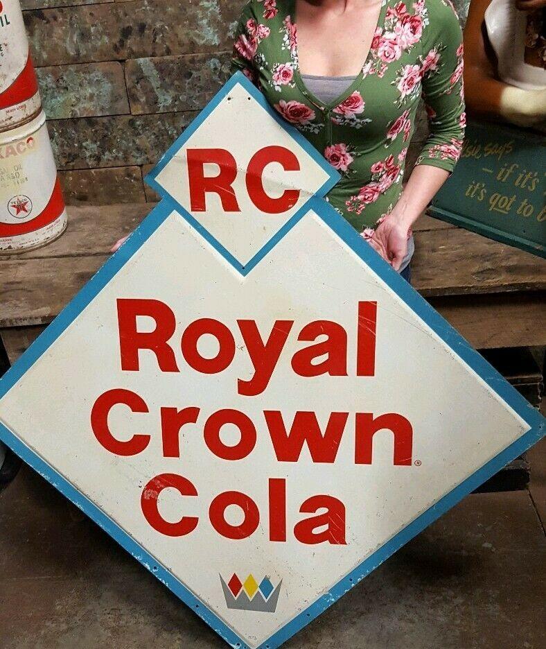 Royal Crown Cola Sign Vintage Style Wall Decor Bottle RC Coke Gas Oil Garage Bar