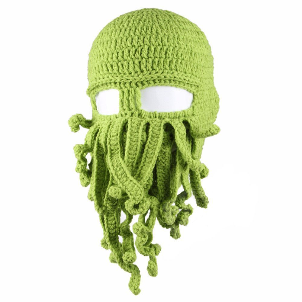 Barbarian Beard Beanie Octopus Knitted Hat | Pinterest