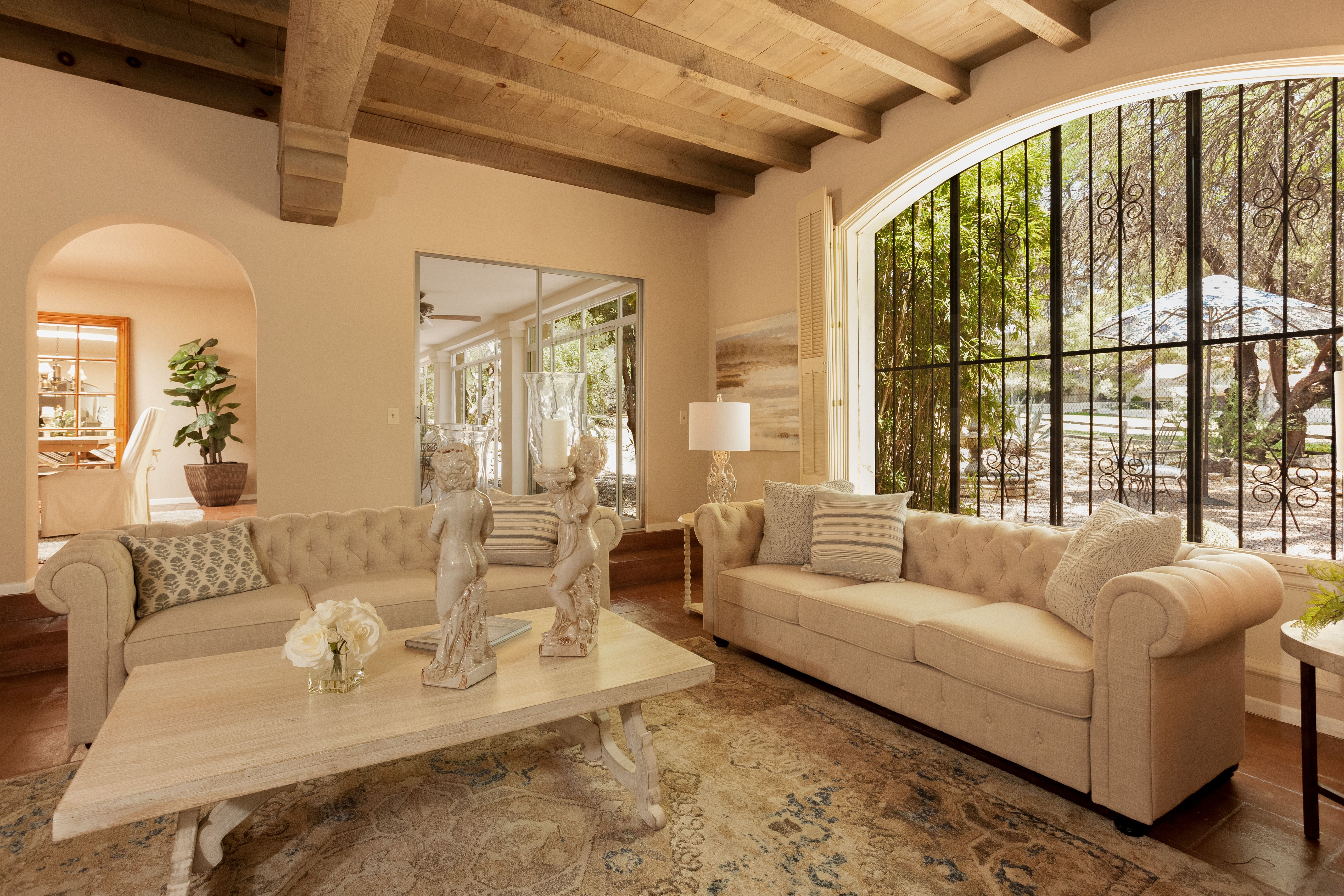 Family room in a hacienda foothills tucson az realestate thru