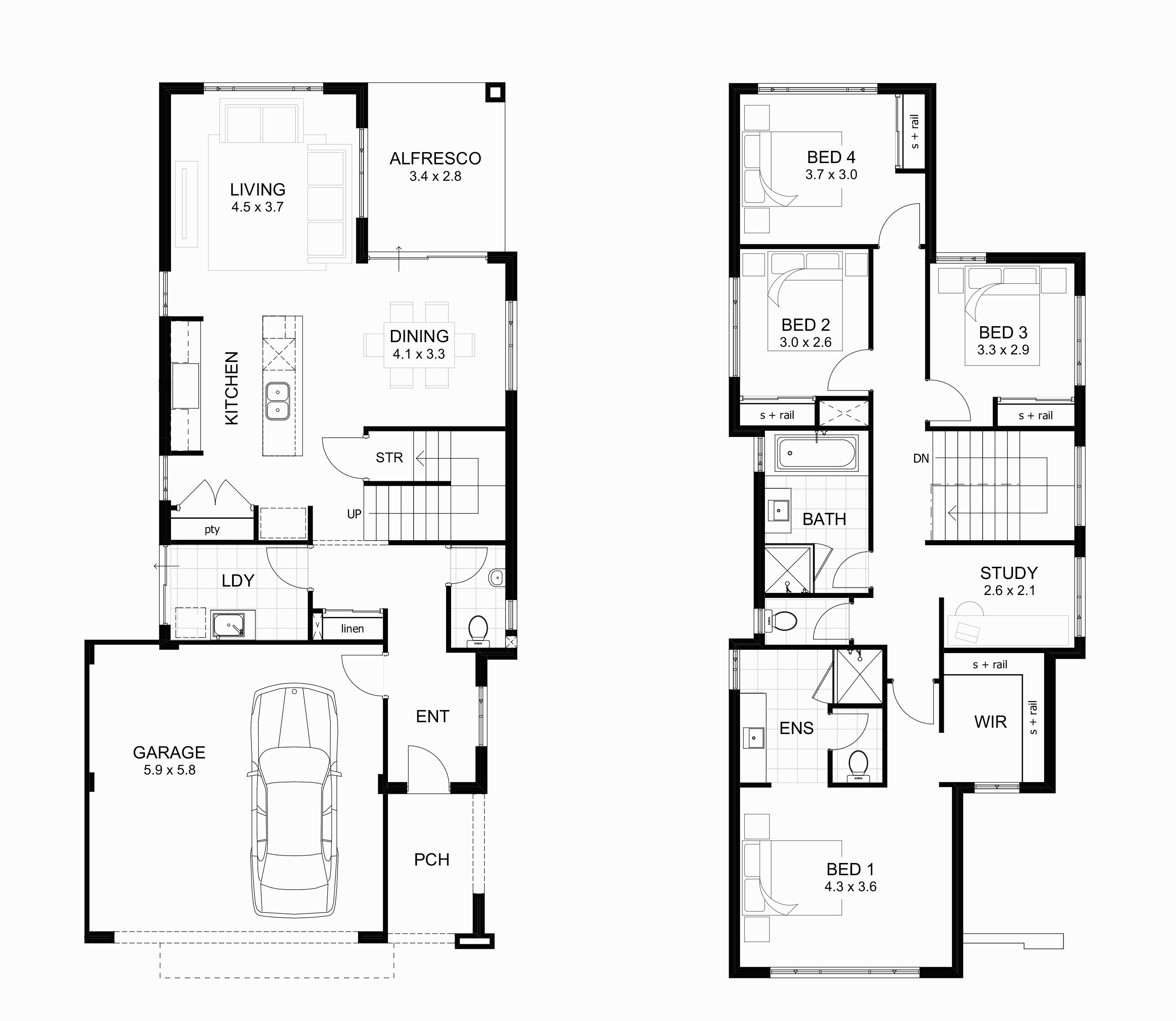 Floor Plans With Basement Modern Two Bedroom House Plans Double Storey House Plans 4 Bedroom House Plans Double Story House