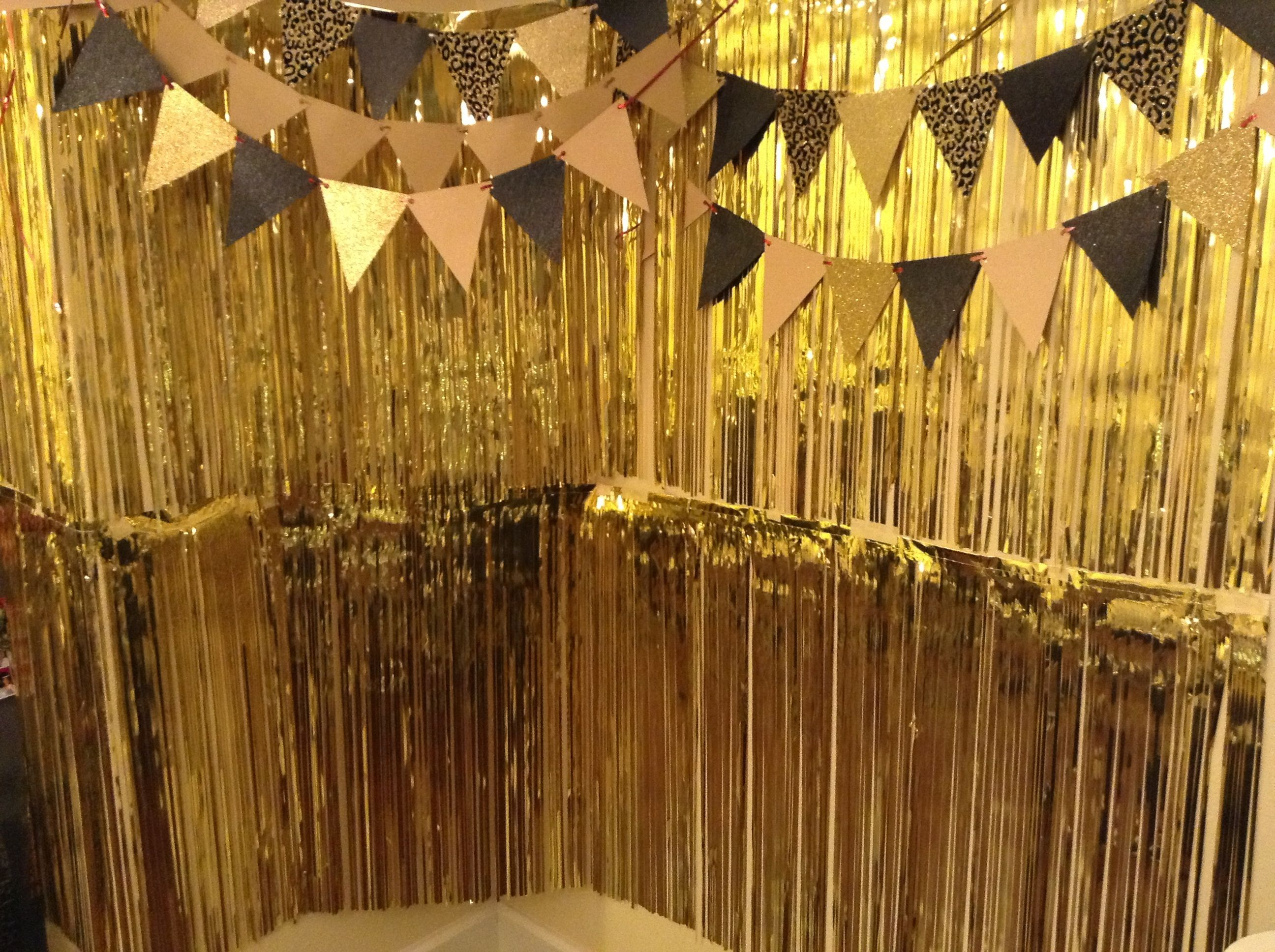 gold photo booth for my gatsby party!
