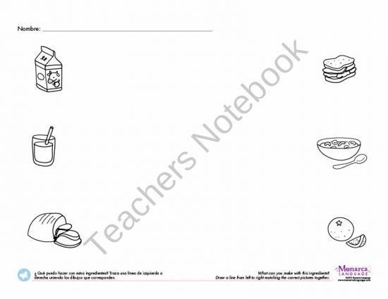 La comida lesson-The food lesson product from Monarca