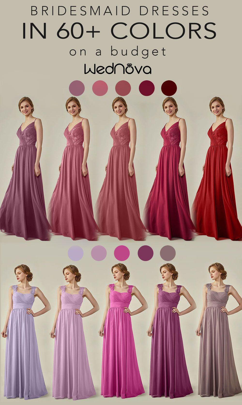 Wine chiffon bridesmaid dress magenta bridesmaid dresses