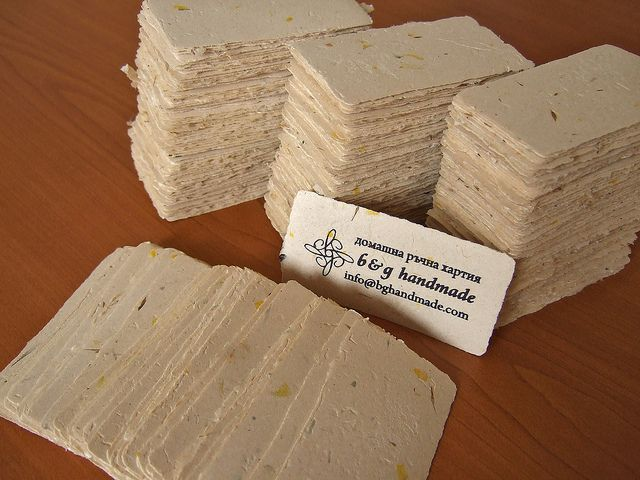 Handmade paper business cards business cards business and by using only cost effective elements these eco friendly recycled paper business cards are created these papers are chlorine free reheart Choice Image