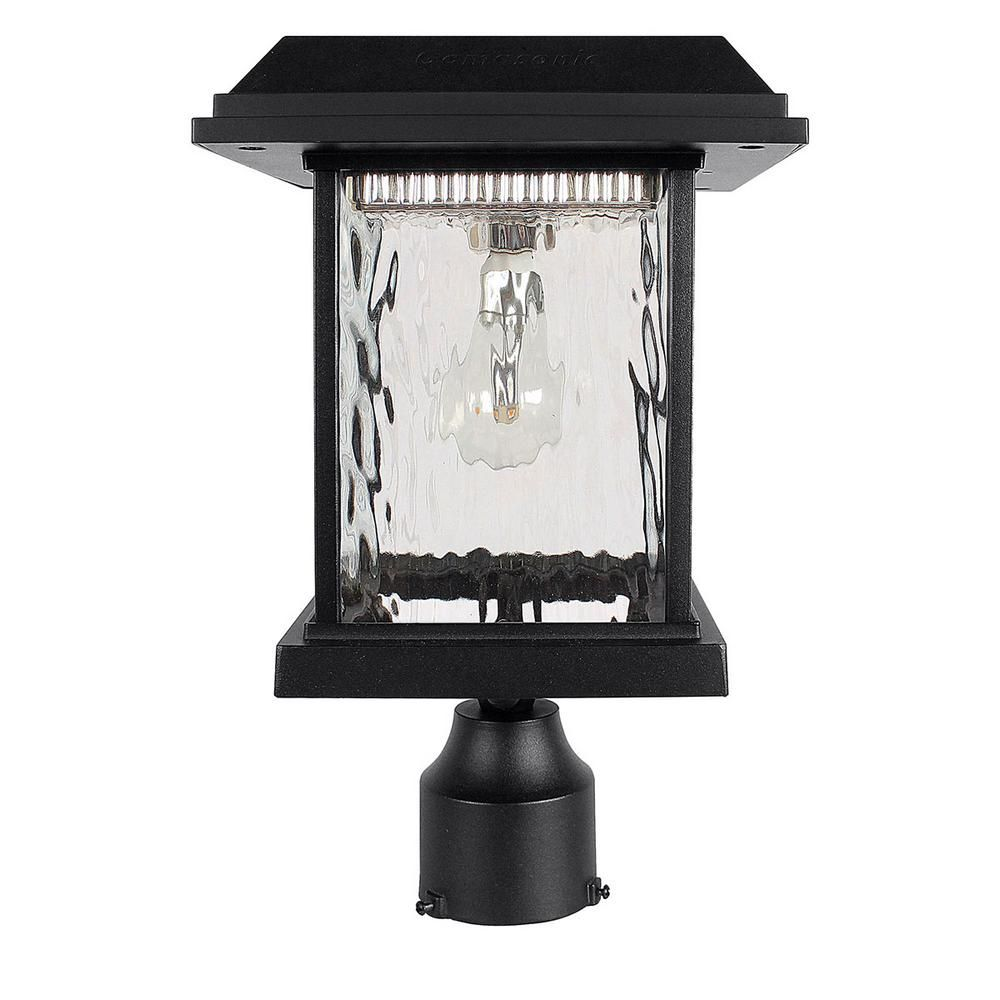 Gama Sonic Aspen Outdoor Black Integrated Led Post Light With 3 In Fitter And Gs Solar Led Light Bulb Gs 8f The Home Depot In 2020 Solar Post Lights Solar Light Bulb