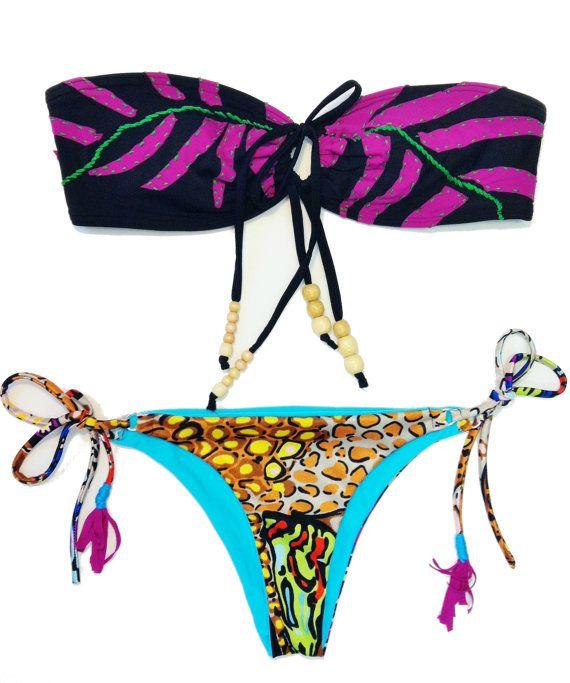 Vibrant Brazilian Bikini by A Z T E C A