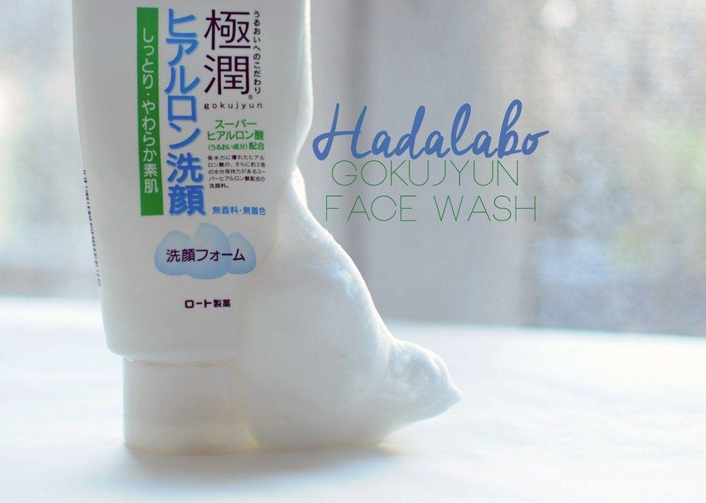 Le nettoyant crème Gokujyun de HadaLabo | Whee Confetti ! #Gokujyun #FaceWash #HadaLabo