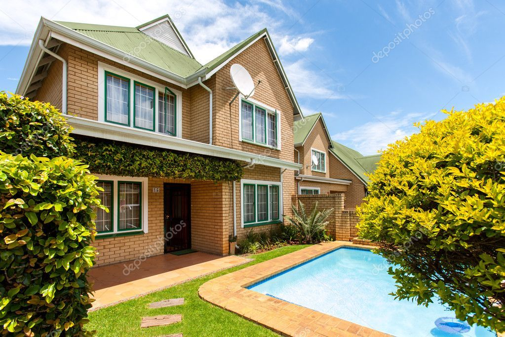 House With Swimming Pool Stock Photo Sponsored Swimming