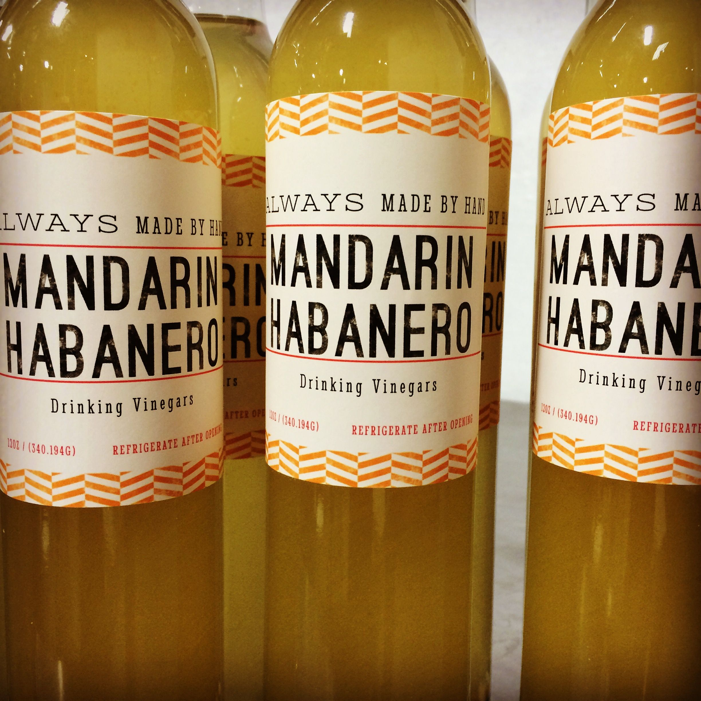 Mandarin Habanero Drinking Vinegars by Grumpy Dog Shrub Co. #drinkingvinegars #shrubs