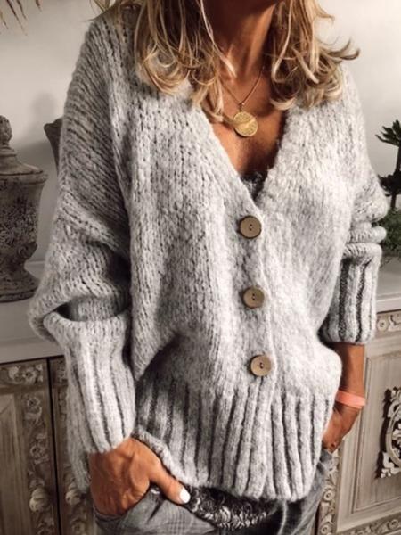 Women Casual Plus Size Sweater Cardigan 15