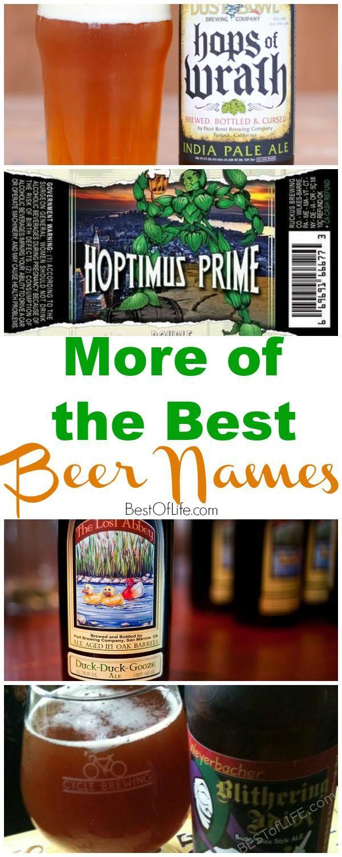 50+ Funny craft beer names information