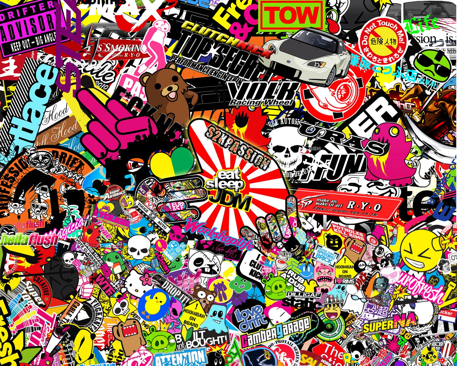 jdm sticker bomb wallpaper image download stickers style
