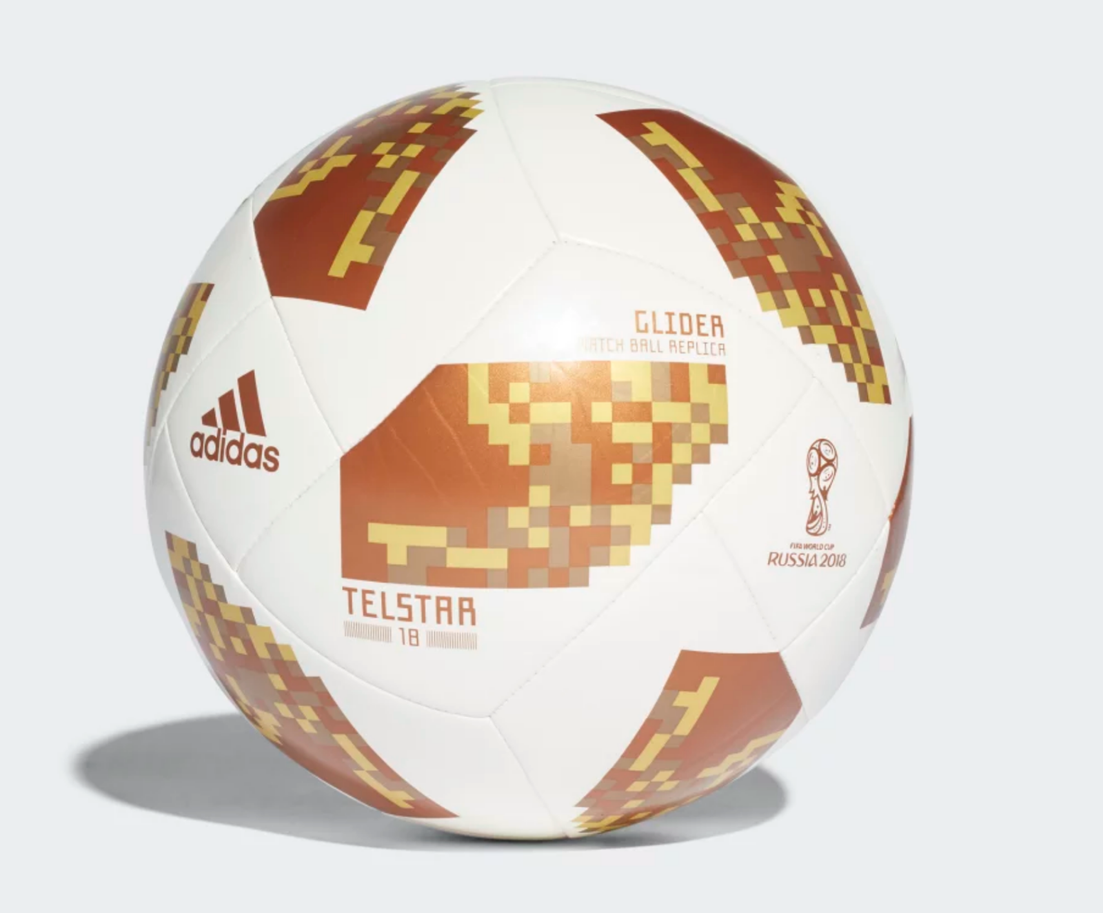 NEW Adidas White Cooper Gold 2018 FIFA World Cup Glider Soccer Ball  Discount Price 21.99 Free Shipping Buy it Now 1919628b0