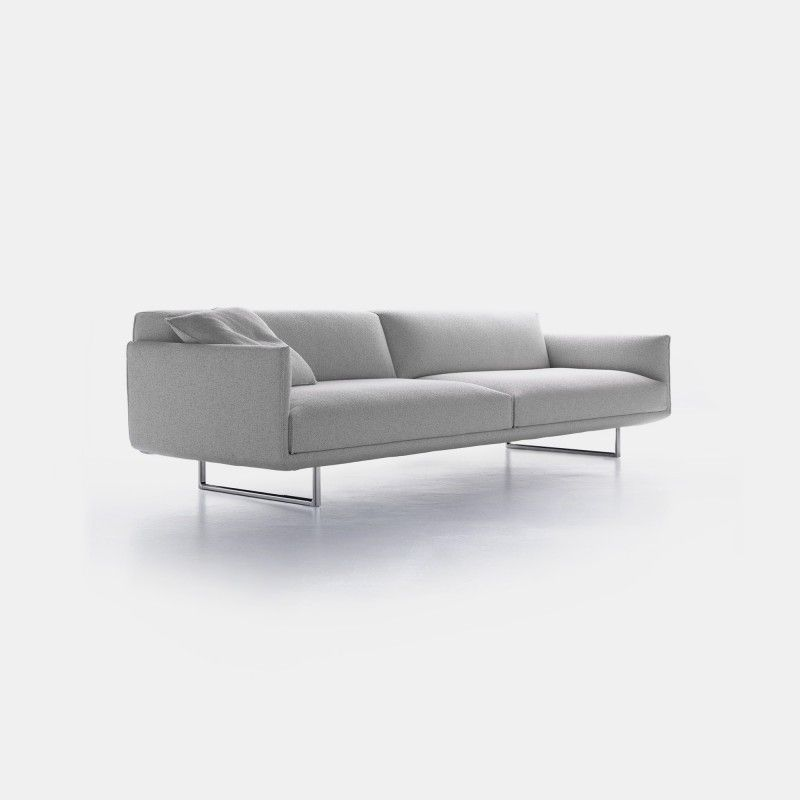 Discover MDF Italia's Hara sofa. Its essential design hides a latest generation mechanism to adjust millimetrically backrest and seat.