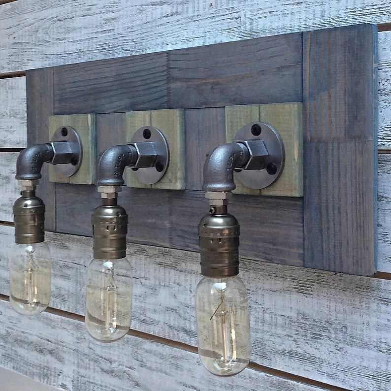 Photo of Bathroom light, Rustic Bathroom Vanity Light Fixtures, Bathroom Farmhouse Lighting, bathroom vanity, Wood Wall Sconce