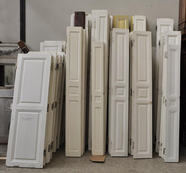 Lot de volets dintérieur anciens fenêtres et volets
