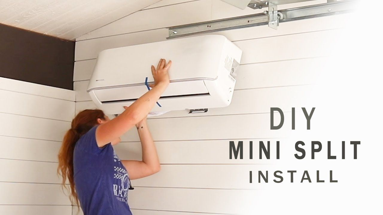 Diy Ductless Mini Split Install Mrcool Unit Youtube Power Tool Storage Shed Frame Diy Toy Storage
