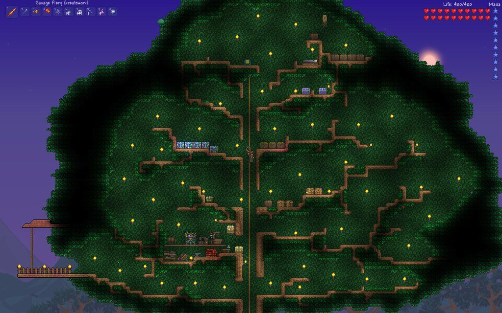 Terraria Tree House Trd Minecraft och Terrarium