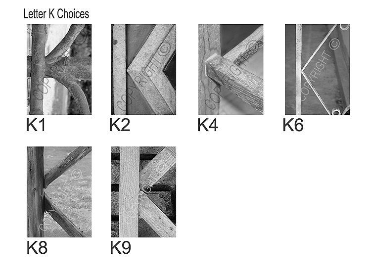 Alphabet Photography Letter K Choices  Black by AlphabetArtPhotos, $5.00