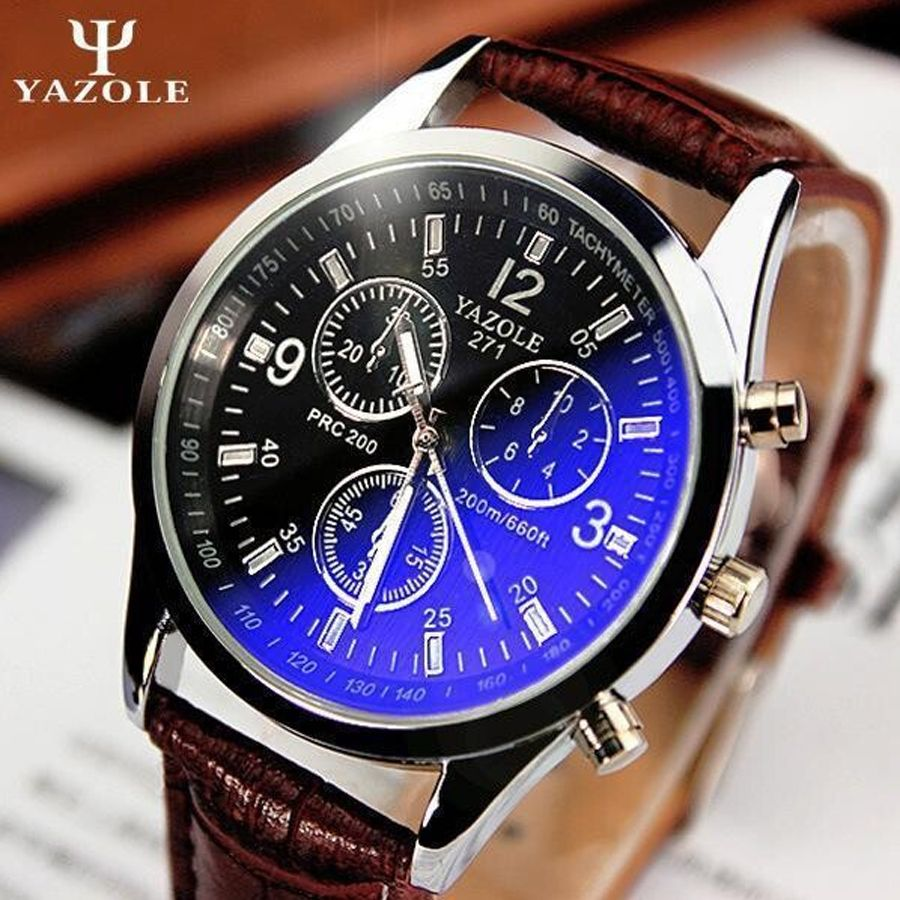 $5.99 (Buy here: http://appdeal.ru/a20o ) relogio male New listing Yazole Men watch Luxury Brand Watches Quartz Clock Fashion Leather belts Watch Cheap Sports wristwatch for just $5.99