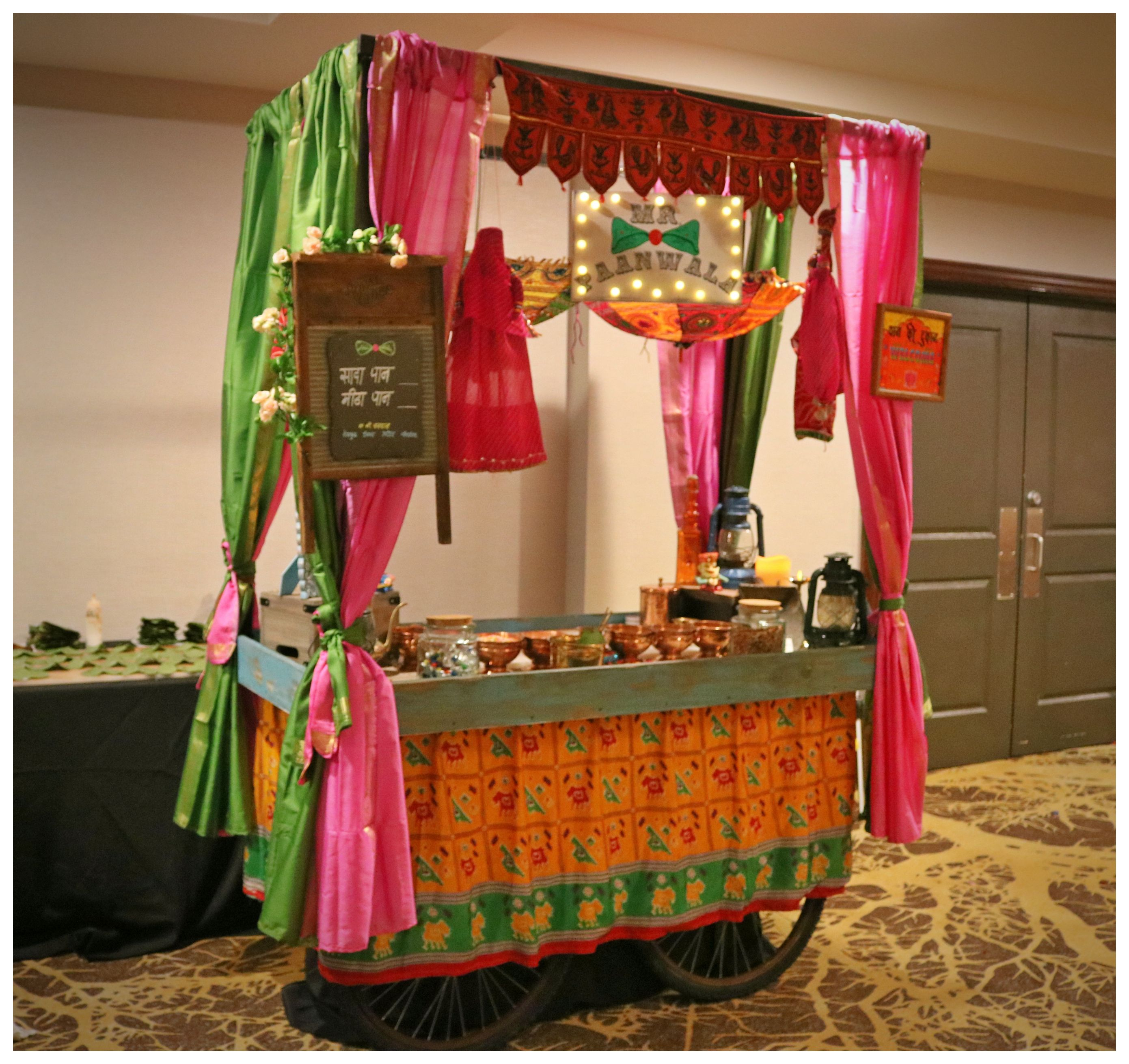 Indian Wedding Food: Traditional Paan Cart, Indian Wedding, Unique Paan Station