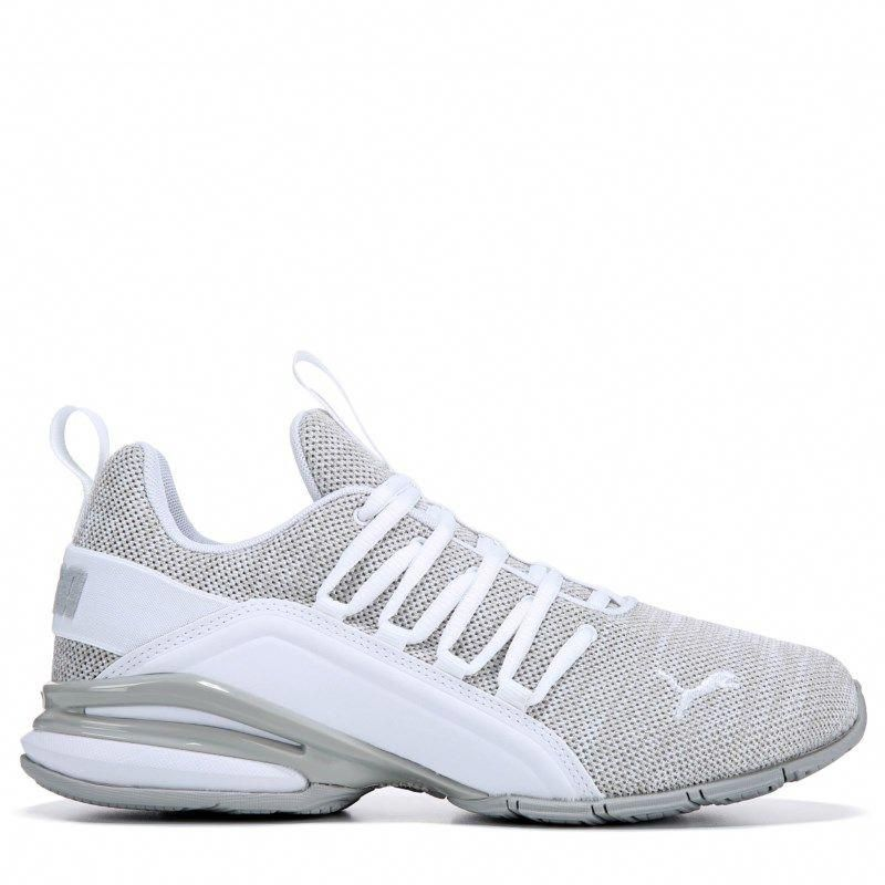 ab2ad639d8ed Puma Men s Axelion Running Shoes (White Grey)