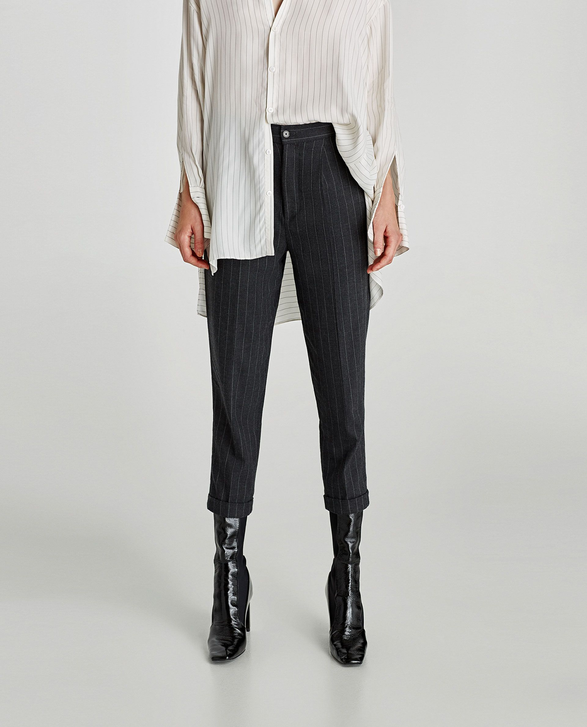 bffe0b19 Image 2 of PINSTRIPE TROUSERS from Zara | Shopping guide | Trousers ...