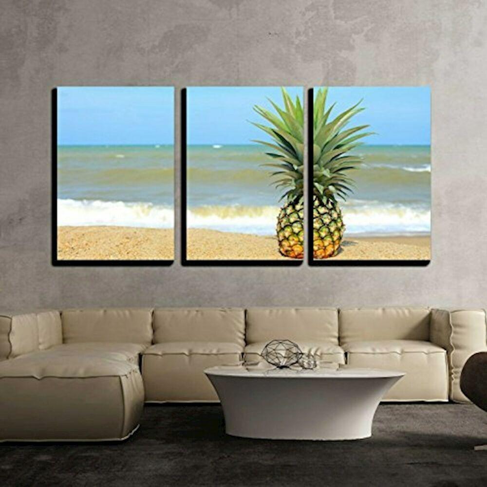 Wall26 3 Piece Canvas Wall Art Pineapple On The Cvs X D523 16x24x1 50x3 Fashion Home Garden Canvas Art Wall Decor Canvas Wall Art Personalized Wall Art