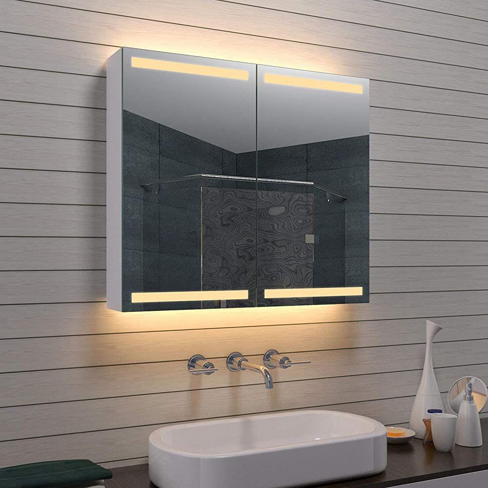 Lux Aqua Alu Badezimmer Spiegelschrank Badschrank Kosmetikspiegel
